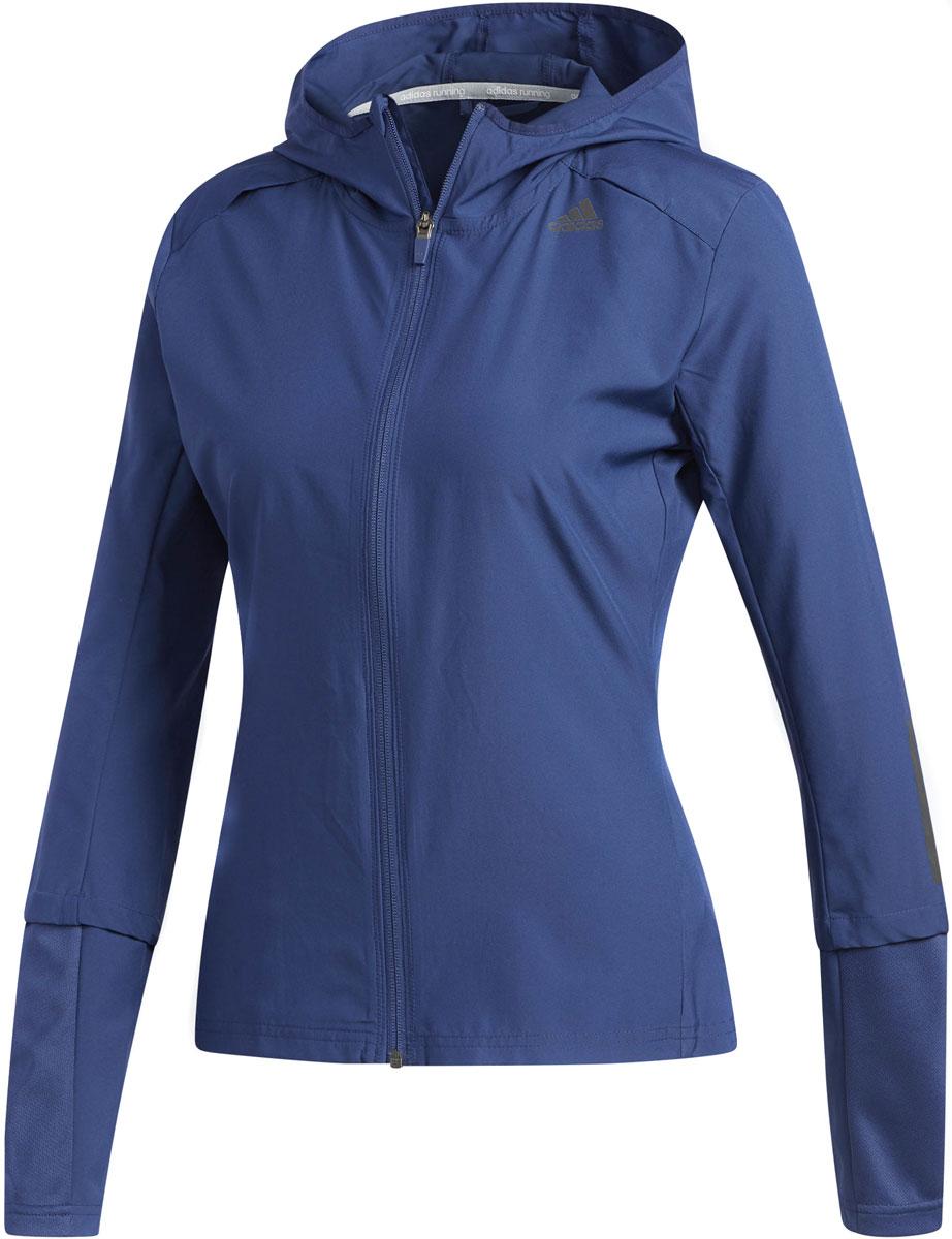 Худи женское Adidas Rs Hd Wnd Jkt W, цвет: синий. CD3201. Размер XS (40/42)CD3201Женская легкая ветровка на молнии и с капюшоном обеспечивает надежную защиту от ветра во время тренировок.