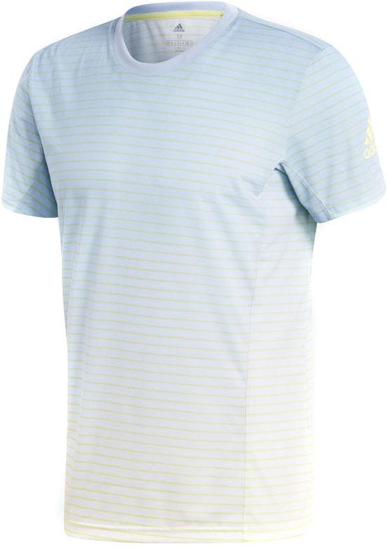 Футболка мужская Adidas Ml Striped Tee, цвет: голубой, белый. CD3273. Размер S (44/46)CD3273Александр Зверев штурмует мировые рейтинги и показывает уникальные для своего возраста результаты. Эта мужская футболка для тенниса создана в честь будущей суперзвезды Германии. Модель приталенного кроя с принтом в полоску по всей поверхности и стильным градиентным эффектом. Вставки под мышками обеспечивают полную свободу движений. Быстросохнущая ткань с технологией Climalite отводит излишки влаги от кожи и сохраняет приятное ощущение сухости и комфорта.Технология Climalite отводит излишки влаги, обеспечивая комфортное ощущение сухости в любых условияхРифленый круглый воротВставки под мышками для свободы движенийВ этой модели играет Александр ЗверевУзор в полоску с градиентным эффектном по всей поверхностиЛоготип adidas на рукавеПриталенный крой, плотнее облегающий руки и корпус