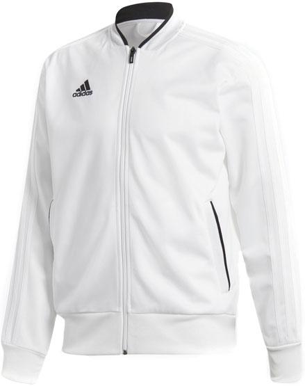 Олимпийка мужская Adidas Con18 Pes Jkt, цвет: белый. BQ6515. Размер S (44/46)BQ6515Будьте готовы к действию. Тренировки в прохладную погоду пройдут легко с этой футбольной ветровкой. Свободный крой не сковывает движения.