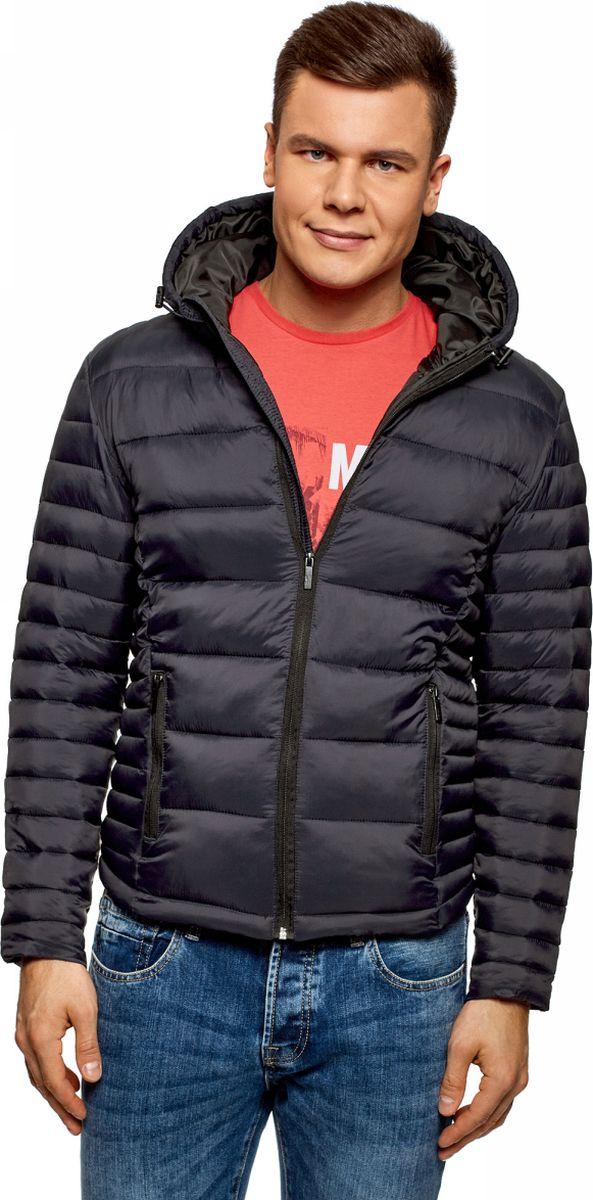 Куртка мужская oodji Basic, цвет: темно-синий. 1B112008M/25278N/7900N. Размер M (50-182) oodji 1b112001m 25278n 7900n