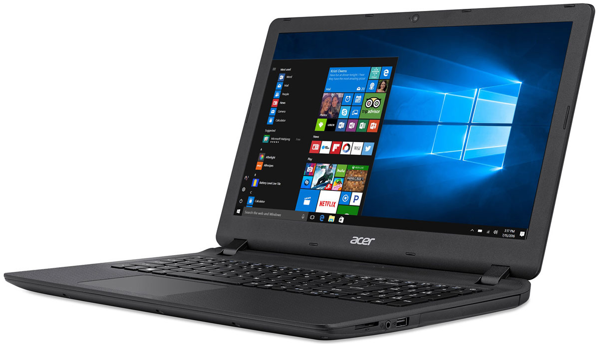 Acer Extensa EX2540-51C1, Black (NX.EFHER.013)NX.EFHER.013Acer Extensa EX2540 - идеальный ноутбук для бизнеса. Благодаря компактному дизайну и провереннымвременем технологиям, которые используются в ноутбуках этой серии, вы справитесь со всеми деловымизадачами, где бы вы ни находились.Тонкий корпус и длительная работа без подзарядки - вот что необходимо пользователям ноутбуков. AcerExtensa является одним из самых тонких устройств в своем классе и сочетает в себе невероятноудобный 15,6-дюймовый дисплей и потрясающую производительность.Наслаждайтесь качеством мультимедиа благодаря светодиодному дисплею с высоким разрешением инепревзойденной графике во время игры или просмотра фильма онлайн. Ноутбуки Aspire EX полностьюсоответствуют высоким аудио- и видеостандартам для работы со Skype. Благодаря оптимизированномуаппаратному обеспечению ваша речь воспроизводится четко и плавно - без задержек, фонового шума и эха.Оцените улучшенную поддержку жеста щипок, а также прокрутки и навигации по экрану, реализованную спомощью технологии Precision Touchpad, которая позволяет значительно снизить количество случайныхкасаний экрана и перемещений курсора. Удобное и эргономичное расположение клавиш на резиновойклавиатуре Acer позволяет быстро и бесшумно набирать нужный текст.Благодаря усовершенствованному цифровому микрофону и высококачественным динамикам, обеспечивающимпревосходное качество при проведении веб-конференций и онлайн-собраний, ноутбук Extensaпредоставляет идеальные возможности для общения. Технологии, которые использованы в этих ноутбукахпомогают сделать видеочаты с коллегами и клиентами максимально реалистичными, а также сократить расходына деловые поездки.Точные характеристики зависят от модели.Ноутбук сертифицирован EAC и имеет русифицированную клавиатуру и Руководство пользователя.