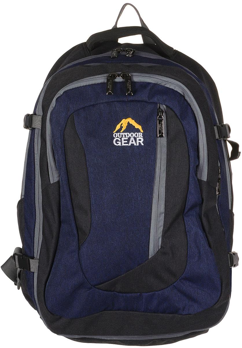 Рюкзак городской Outdoor Gear, цвет: черный, синий. 2111 рюкзак conway kangwei 2011 621042