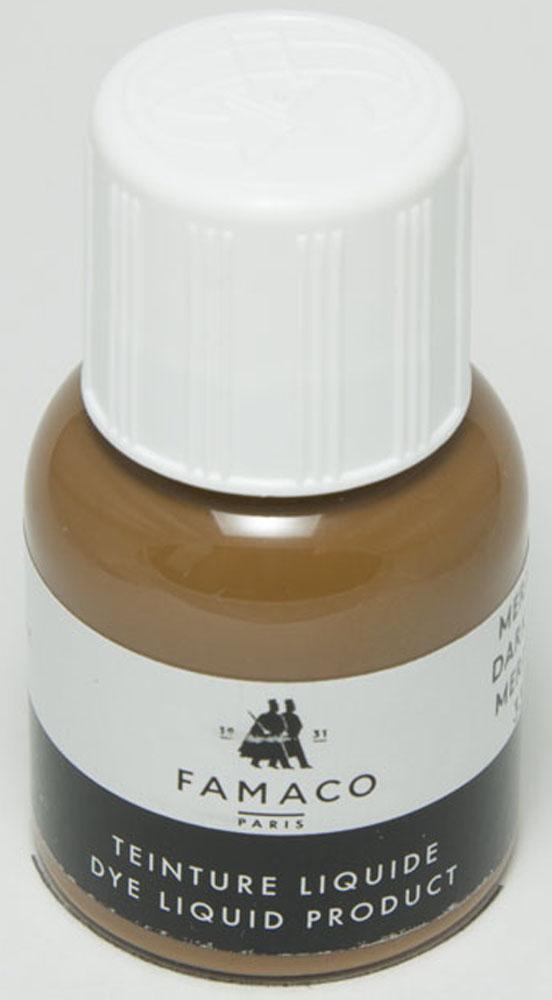 Жидкий краситель для кожи Famaco, цвет: светло-коричневый, 30 мл2199Жидкий краситель для кожи Famaco обновляет цвет и восстанавливает верхний поврежденный слой не только определенного участка кожи, но и всего изделия в целом, убирает потертости.