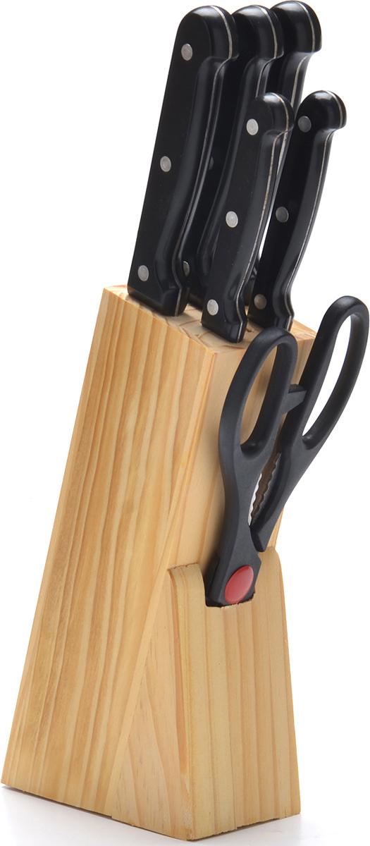 Набор ножей Mayer&Boch, на подставке, 7 предметов набор кухонных ножей bohmann на подставке 7 предметов