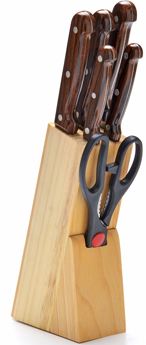 Набор ножей Mayer&Boch, на подставке, 7 предметов. 27425 набор кухонных ножей bohmann на подставке 7 предметов