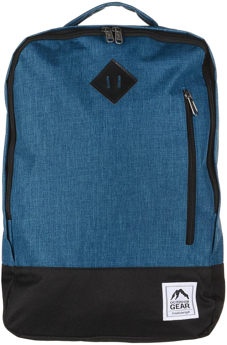 Рюкзак городской Outdoor, цвет: голубой, черный. 81258125 Jage/BlackМатериал: 100% полиэстер. Размер: 46х33х12 см. Соответствует требованиям ТР ТС 017/2011 О безопасности продукции легкой промышленности.