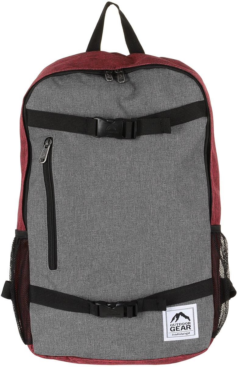Рюкзак городской Outdoor, цвет: серый, красный. 81278127 Grey/RedМатериал: 100% полиэстер. Размер: 48х31х13 см. Соответствует требованиям ТР ТС 017/2011 О безопасности продукции легкой промышленности.