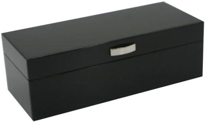 Шкатулка для часов, цвет: черный, 28 х 12 х 9 см. 238106 шкатулка для ювелирных украшений win max 20 х 17 х 9 см