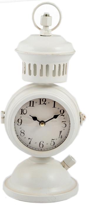 Часы настольные, цвет: белый, 14 х 13 х 32 см . 29651 ваш дом