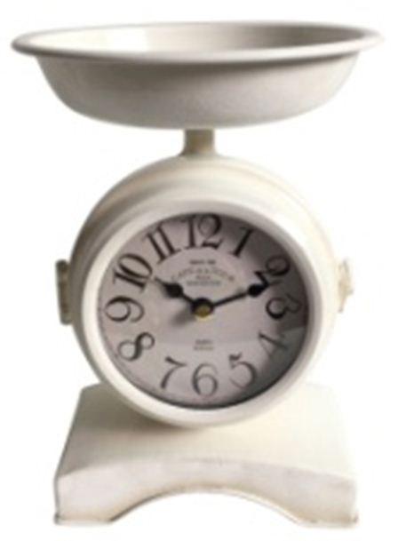 Часы настольные, цвет: белый, 15 х 15 х 22 см. 29652 ваш дом