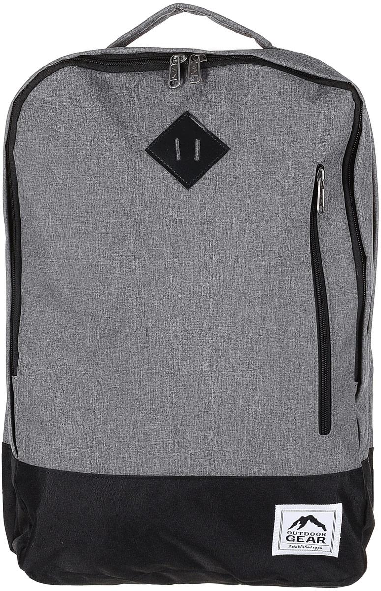 Рюкзак городской Outdoor, цвет: серый, черный. 81258125 Grey/BlackМатериал: 100% полиэстер. Размер: 46х33х12 см. Соответствует требованиям ТР ТС 017/2011 О безопасности продукции легкой промышленности.