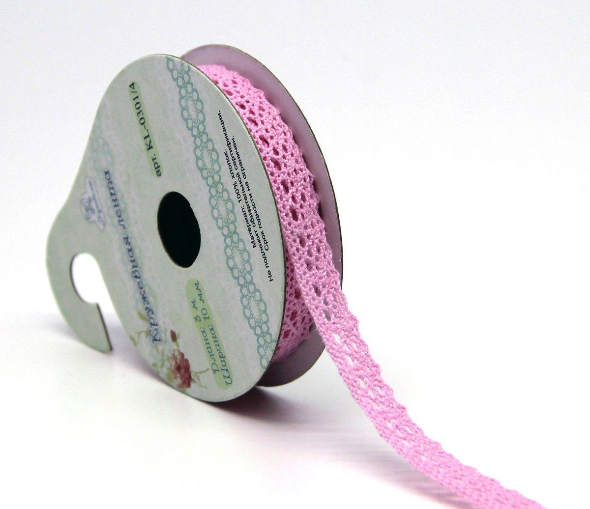 Лента кружевная Рукоделие, цвет: светло-розовый, 1 см, 3 м. KL-0301KL-0301/4Предназначены для прикладных, дизайнерских работ, оформления открыток , альбомов.длина 3мширина 10ммХлопок 100%