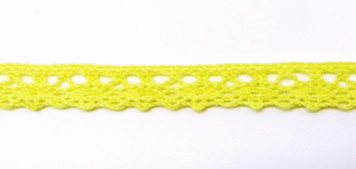 Лента кружевная Рукоделие, цвет: желтый, 1 см, 10 м. KL-1001KL-1001/5Предназначены для прикладных, дизайнерских работ, оформления открыток , альбомов.