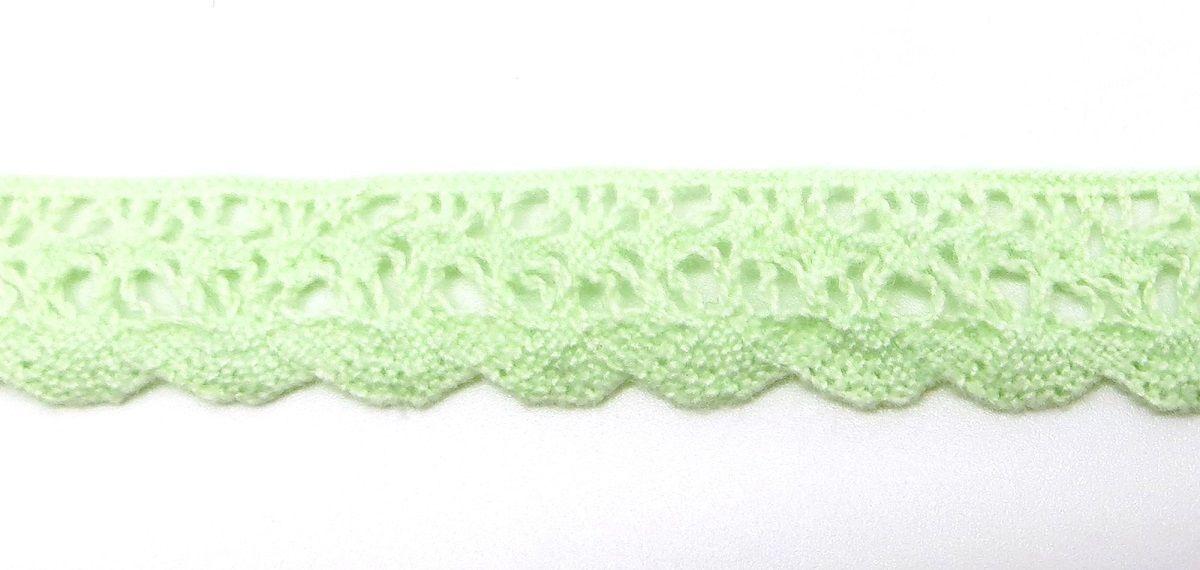 Лента кружевная Рукоделие, цвет: светло-зеленый, 1,2 см, 10 м. KL-1004 для кухни рукоделие