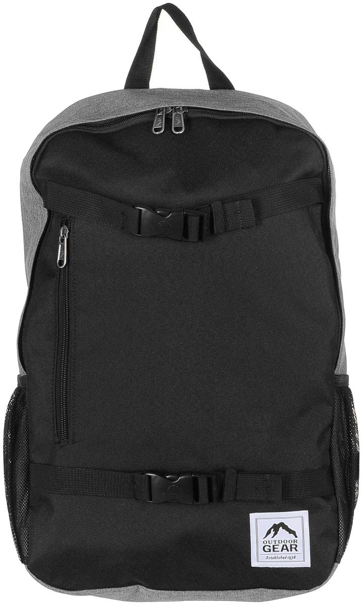 Рюкзак городской Outdoor, цвет: черный, серый. 81278127 Black/GreyМатериал: 100% полиэстер. Размер: 48х31х13 см. Соответствует требованиям ТР ТС 017/2011 О безопасности продукции легкой промышленности.