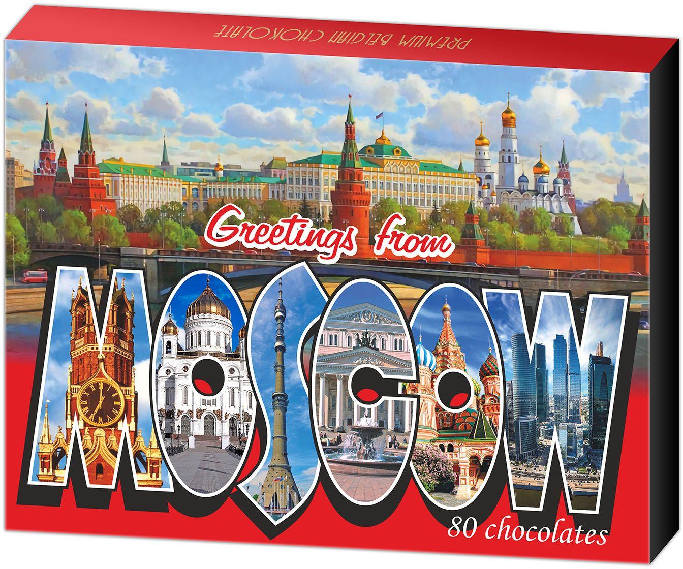 Дилан+ Шоколадный набор Москва, 80 шт по 5 г дилан шоколадный набор матрешка 25 шт по 5 г
