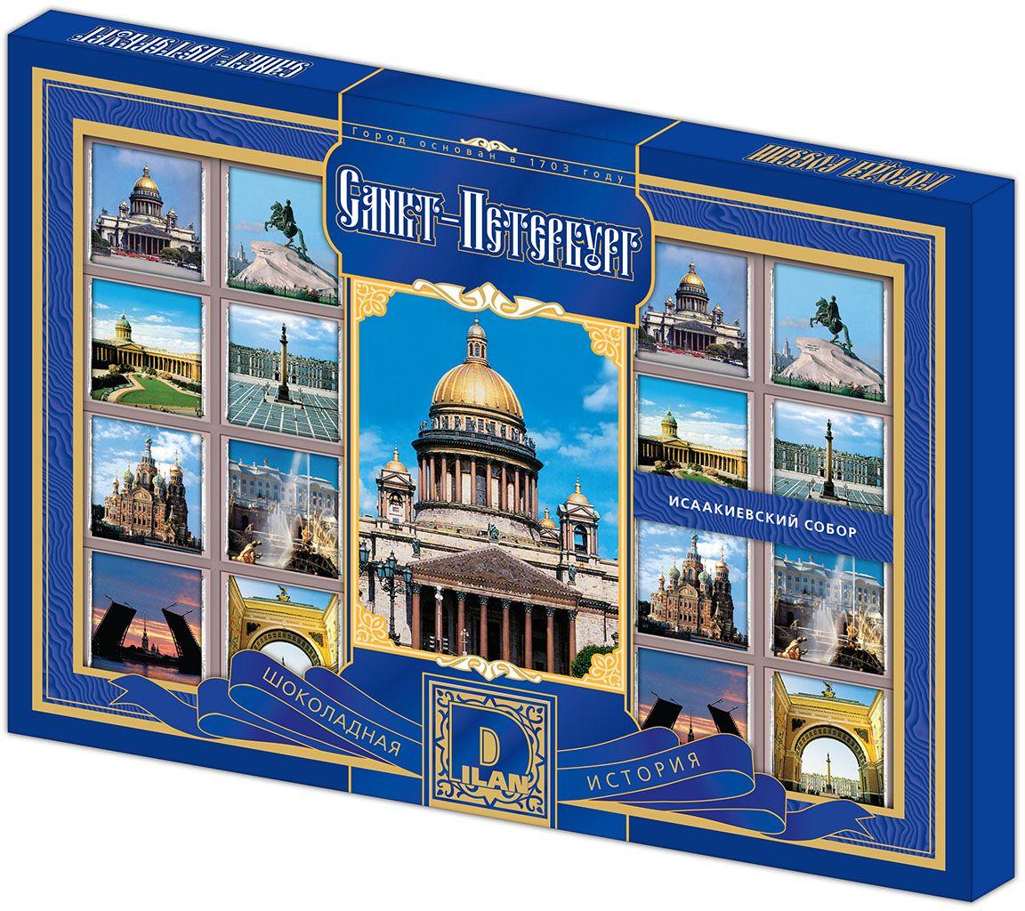 Дилан+ Шоколадный набор Санкт-Петербург, 24 шт по 5 г дилан шоколадный набор матрешка 25 шт по 5 г