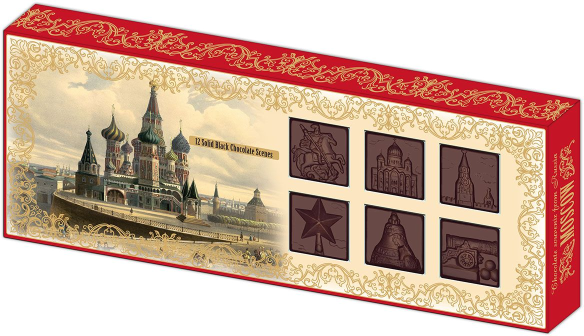Дилан+ Шоколадный набор Москва барельеф, 12 шт по 8,3 г4620001510689Темный шоколад – это шоколад, в котором 52% какао. Это вкусный, не приторно сладкий и полезный вид шоколада. К тому же в нем немного калорий – отличный выбор для сладкоежек. Темный шоколад любят взрослые и дети, он содержит много минеральных веществ и антиоксидантов, а еще он отлично поднимает настроение. Мы используем натуральное сырье высшего качества, чтобы наши шоколадные наборы были вкусными и полезными: здесь нет вредных добавок и красителей.