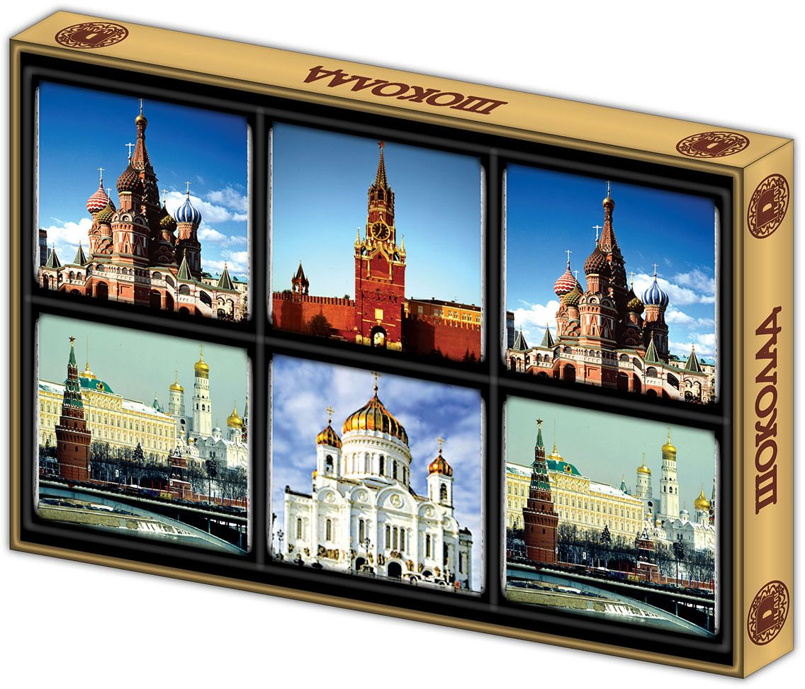 Дилан+ Шоколадный набор Москва современная, 6 шт по 10 г дилан шоколадный набор москва 6 шт по 5 г