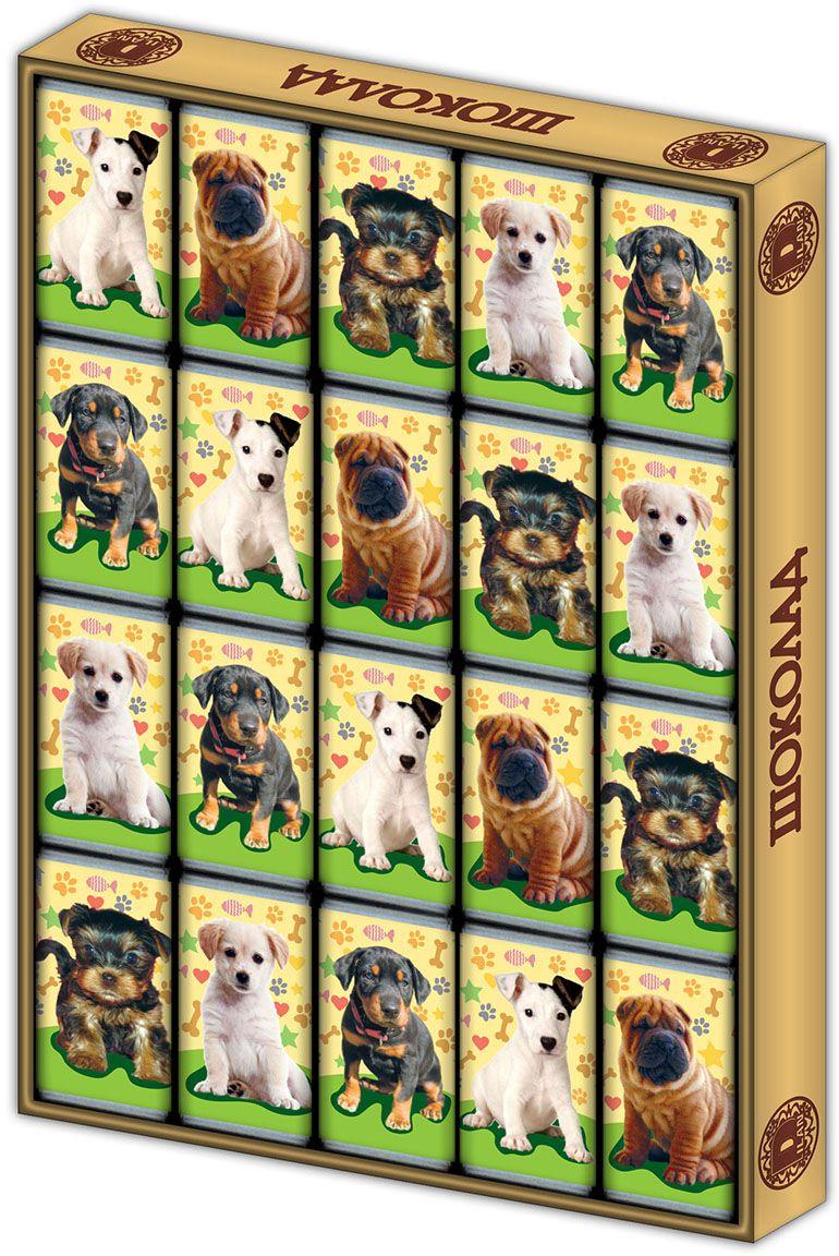 Дилан+ Шоколадный набор Собаки, 20 шт по 5 г дилан шоколадный набор матрешка 25 шт по 5 г