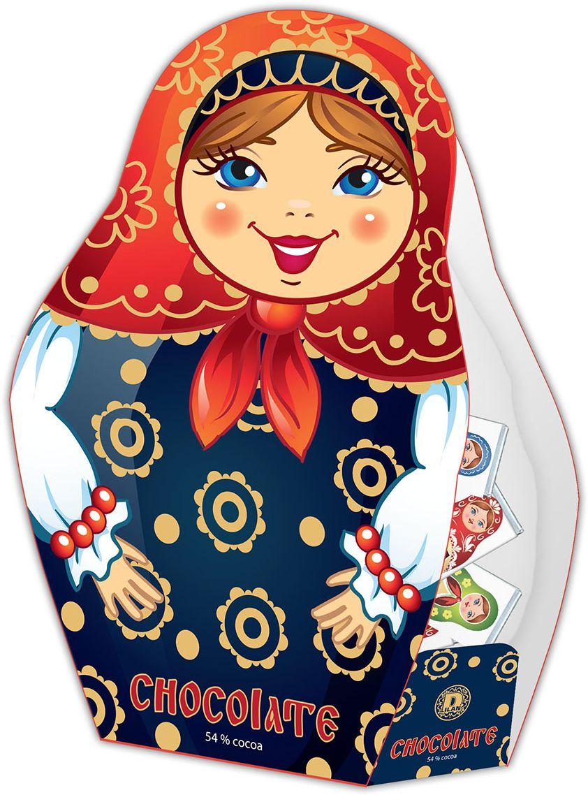 Дилан+ Шоколадный набор Матрешка, 25 шт по 5 г россия шк в ярославле 25 5