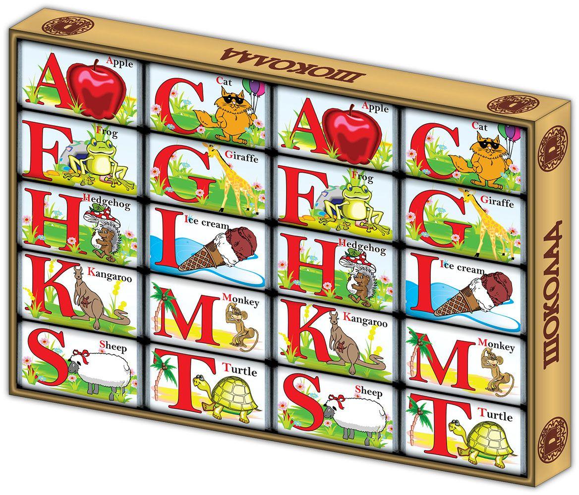 Дилан+ Шоколадный набор Английский алфавит, 20 шт по 5 г дилан шоколадный набор матрешка 25 шт по 5 г