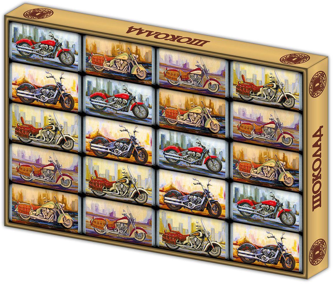 Дилан+ Шоколадный набор Мотоциклы, 20 шт по 5 г дилан шоколадный набор матрешка 25 шт по 5 г