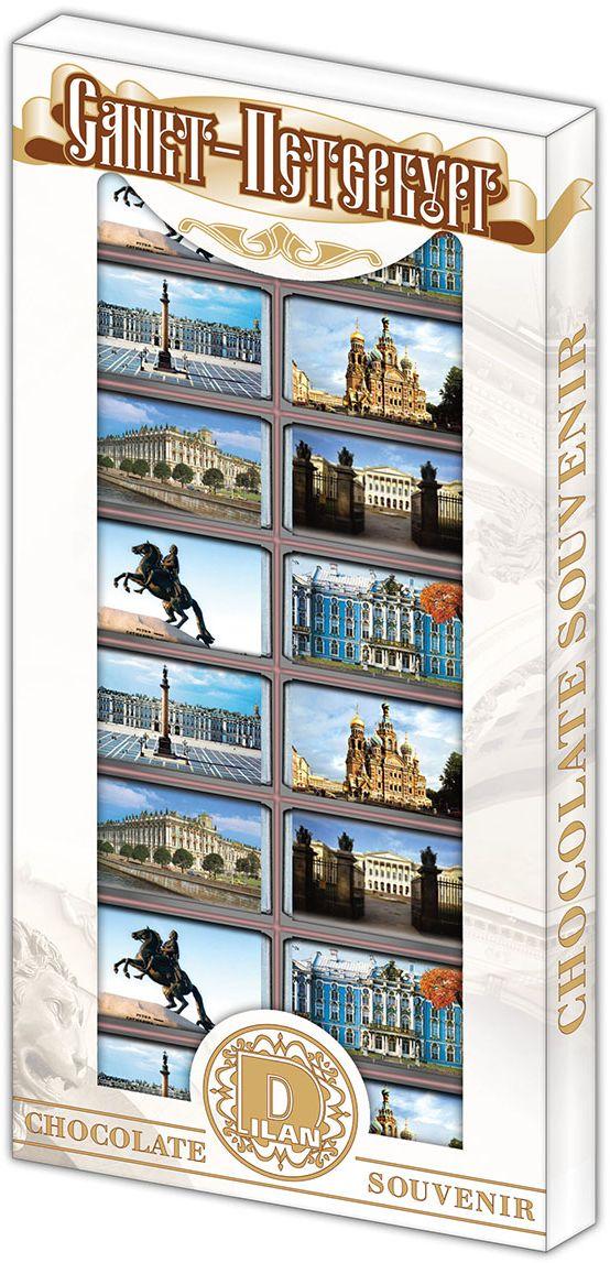 Дилан+ Шоколадный набор Санкт-Петербург современный, 16 шт по 5 г дилан шоколадный набор матрешка 25 шт по 5 г