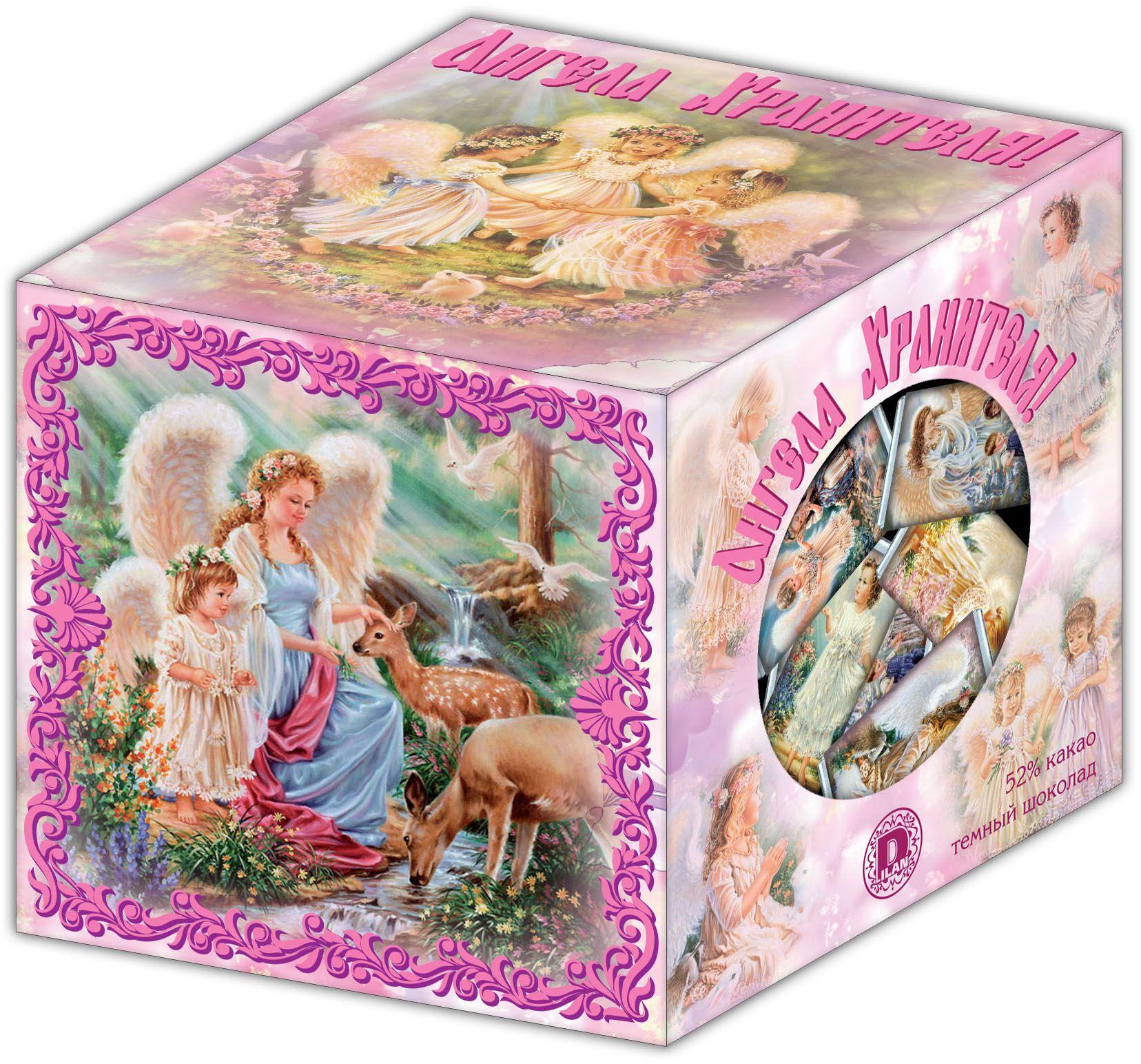 Дилан+ Шоколадный набор кубик Ангела Хранителя, 30 шт по 5 г дилан шоколадный набор матрешка 25 шт по 5 г