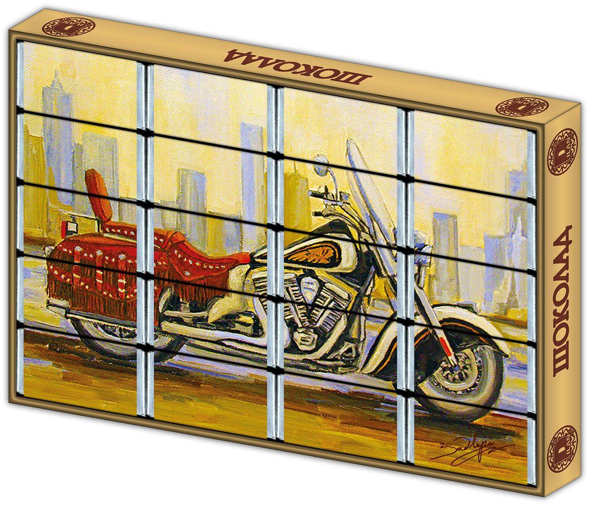 Дилан+ Шоколадный набор с раскраской Мотоцикл, 20 шт по 5 г дилан шоколадный набор матрешка 25 шт по 5 г
