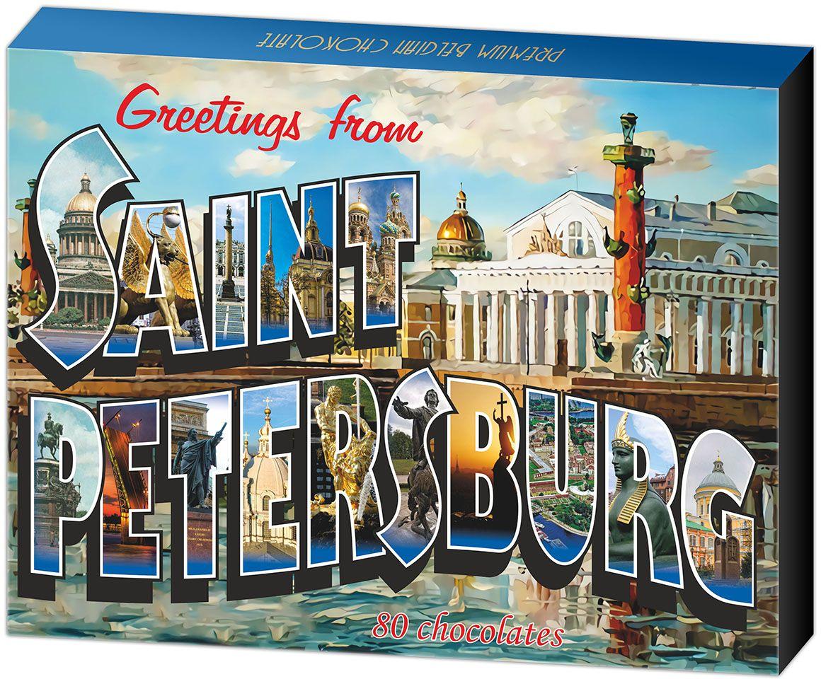 Дилан+ Шоколадный набор Санкт-Петербург, 80 шт по 5 г дилан шоколадный набор матрешка 25 шт по 5 г