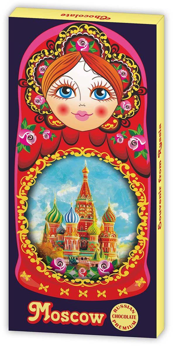 Дилан+ Шоколадный набор Москва матршека, 12 шт по 5 г karl fazer julia конфеты темный шоколад с ананасово абрикосовым мармеладом 350 г