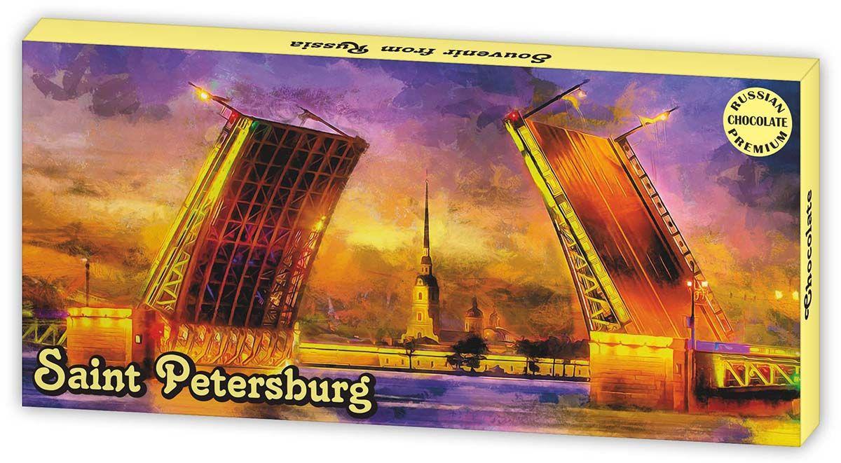 Дилан+ Шоколадный набор Санкт-Петербург Дворцовый Мост, 12 шт 5 г дилан шоколадный набор санкт петербург современный 20 шт по 5 г