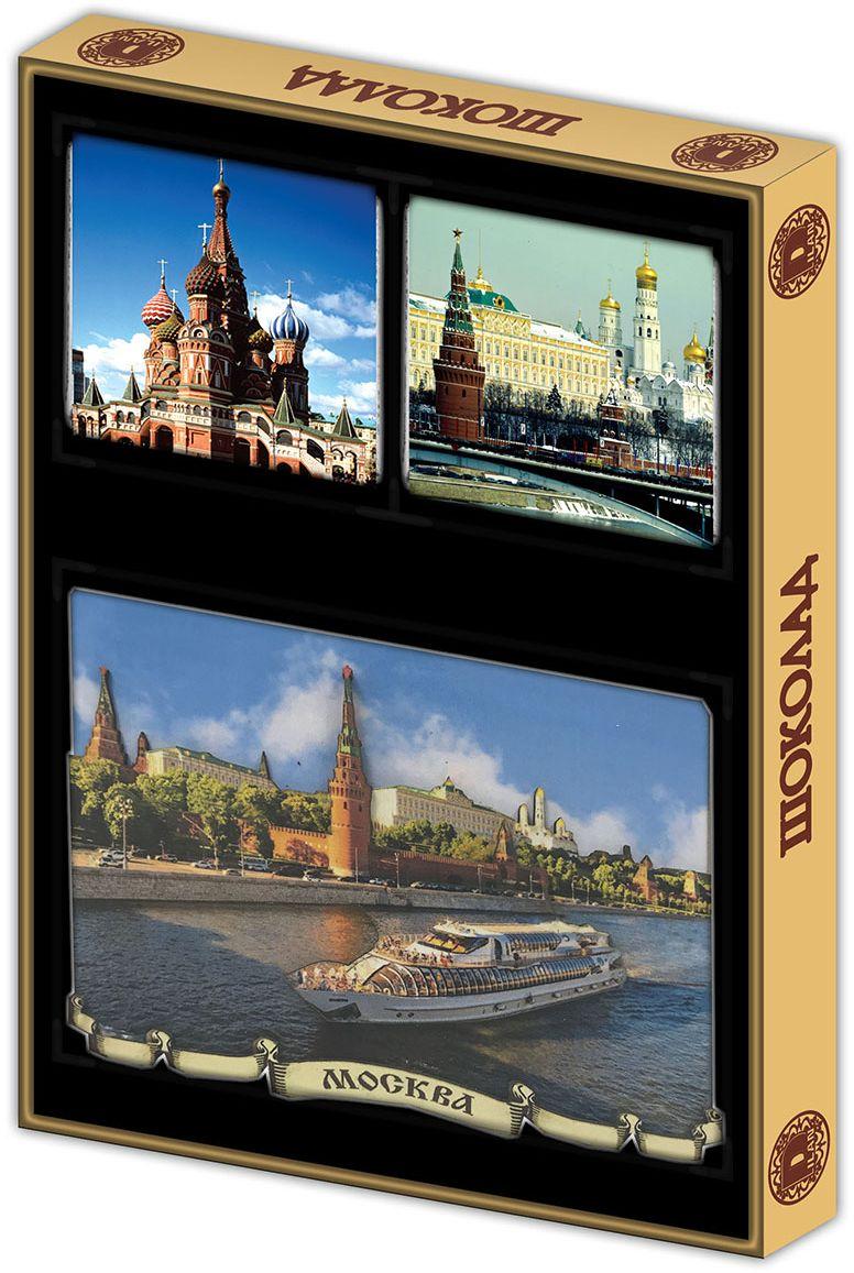 Дилан+ Шоколадный набор с магнитом летняя Москва, 4 шт по 10 г дилан шоколадный набор москва 6 шт по 5 г