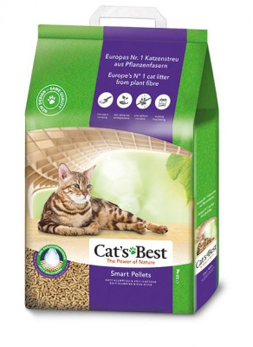 Наполнитель древесный комкующийся Cat's Best  Nature Gold , 10 л (5 кг) - Наполнители и туалетные принадлежности - Наполнители