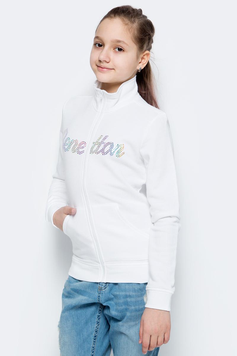Толстовка для девочек United Colors of Benetton, цвет: белый. 3J68C5339_101. Размер 1303J68C5339_101