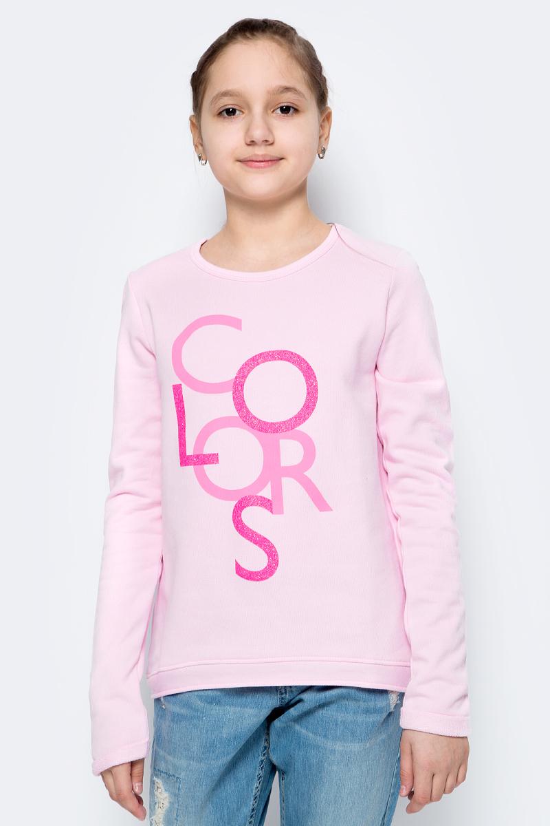 Футболка с длинным рукавом для девочки United Colors of Benetton, цвет: розовый. 3J68C13K8_09H. Размер 160 эмблема для авто vw original oem vw skoda skoda fabia octavia roomster