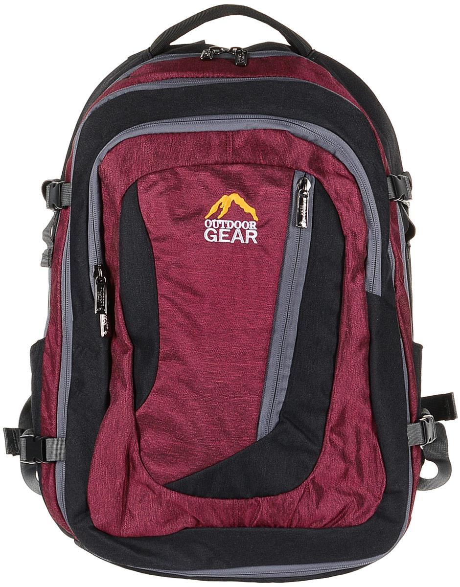 Рюкзак городской Outdoor Gear, цвет: черный, красный. 2111 рюкзак conway kangwei 2011 621042