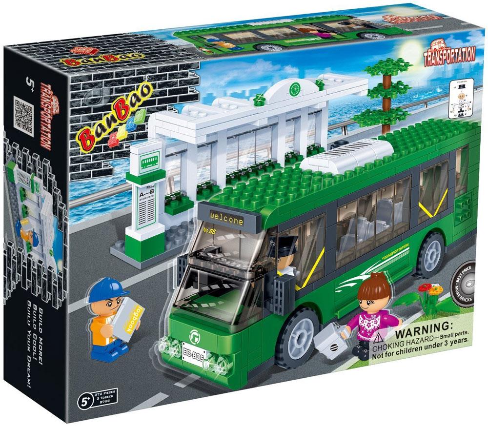 BanBao Конструктор Автобус и автобусная остановка