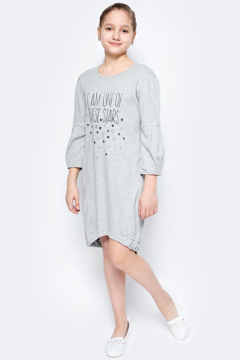 Платье для девочки United Colors of Benetton, цвет: серый. 3793F11LW_501. Размер 150 футболка для девочки united colors of benetton цвет серый 3096c13ke 501 размер 150