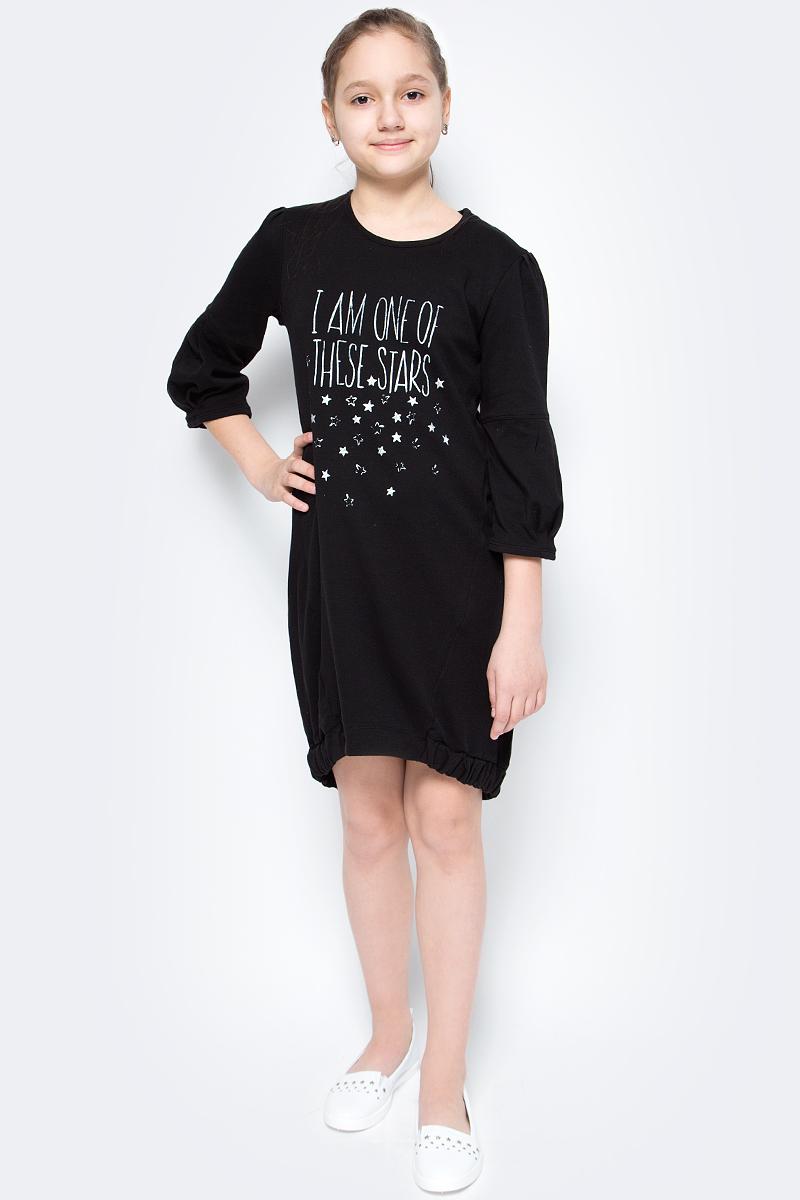 Платье для девочек United Colors of Benetton, цвет: черный. 3793F11LW_100. Размер 1503793F11LW_100