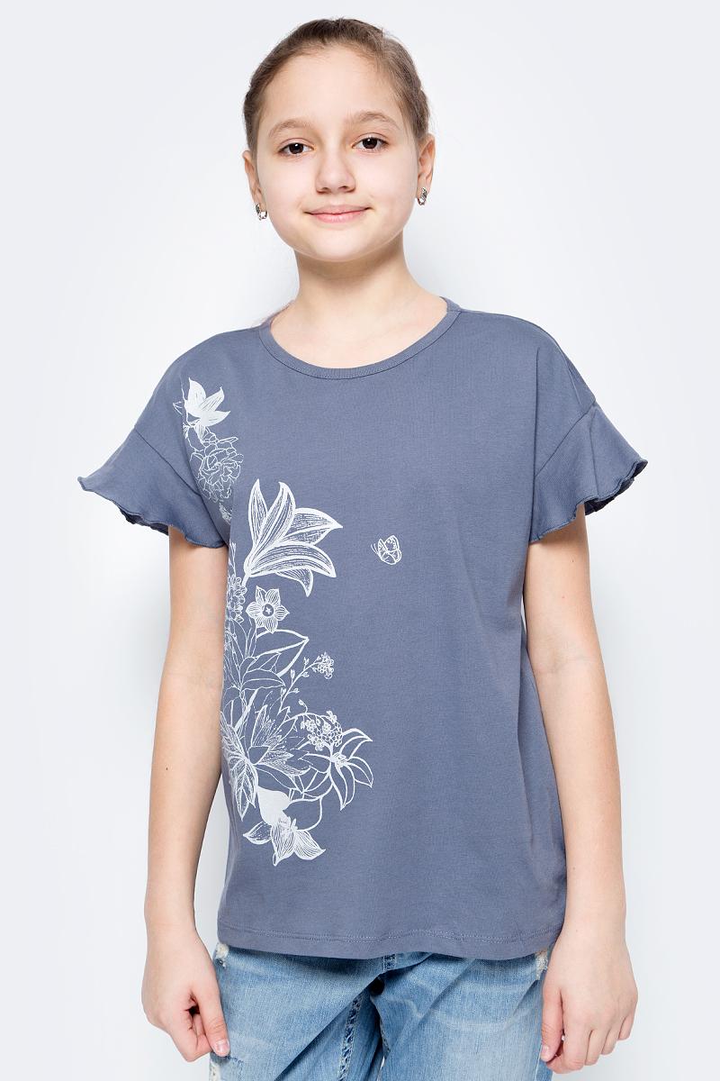 Футболка для девочек United Colors of Benetton, цвет: серый. 3096C13JI_11E. Размер 1203096C13JI_11E