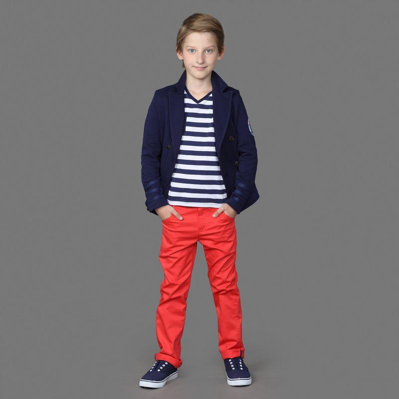 Брюки для мальчика Ёмаё, цвет: красный. 41-926. Размер 128 брюки джинсы и штанишки ёмаё ползунки для мальчика ватсон 26 290