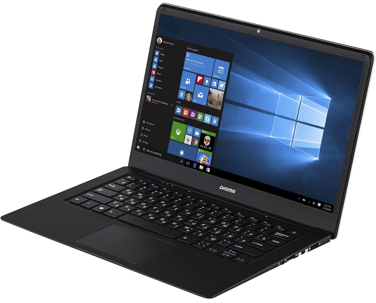 Digma EVE 1401, SilverEVE 1401Digma EVE 1401 - современный и удобный ноутбук с экраном 14.1, полной версией ОС Windows и универсальнымнабором портов, который с успехом может заменить ваш стационарный компьютер. 4-ядерный процессор Intel Atom Z8350 (частота до 1,92 ГГц) позволяет ноутбуку выполнять разнообразныезадачи без особых усилий. 2 ГБ оперативной памяти и 32 ГБ внутренней памяти помогают ноутбукуработать в режиме многозадачности. Digma EVE 1401 не нуждается в переходниках: универсальный набор портов позволяет организовать мобильныйофис в считанные минуты. С помощью порта mini HDMI, полноразмерного USB 3.0 и USB 2.0 вы без проблемподключите большой экран, мышь, принтер или сканер.Точные характеристики зависят от модификации.Ноутбук сертифицирован EAC и имеет русифицированную клавиатуру и Руководство пользователя.