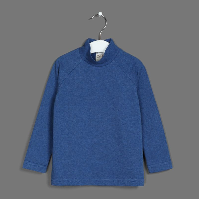 Водолазка для мальчика Ёмаё, цвет: синий. 20-100. Размер 9820-100Водолазка от Ёмаё.