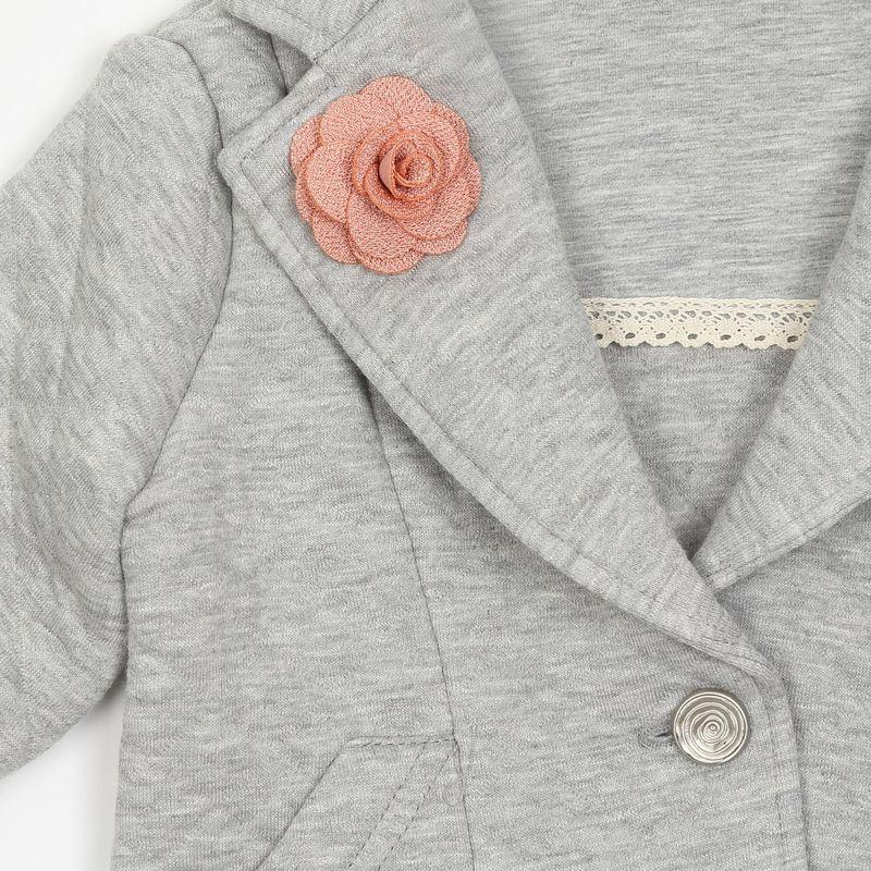 Жакет для девочки Ёмаё, цвет: серый. 13-802. Размер 110 Ёмаё