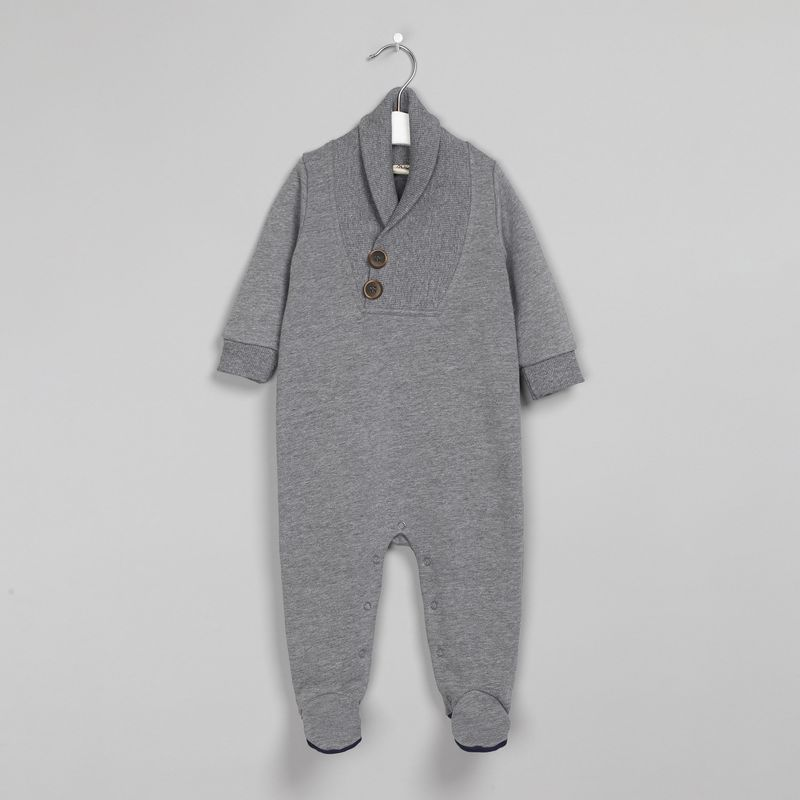 Комбинезон для мальчика Ёмаё, цвет: серый. 22-405. Размер 68