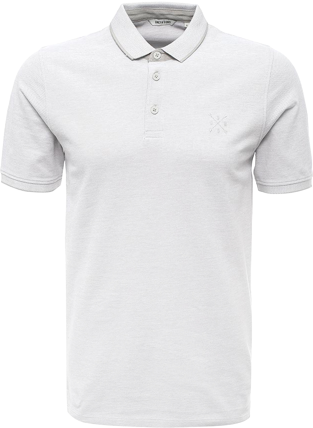 Поло мужское Only & Sons, цвет: белый. 22006560. Размер S (46)22006560