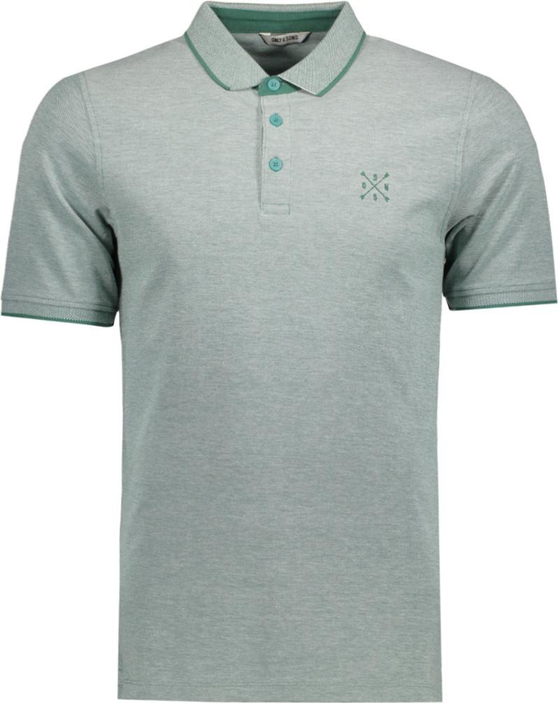 Поло мужское Only & Sons, цвет: серый. 22006560. Размер XL (52)22006560