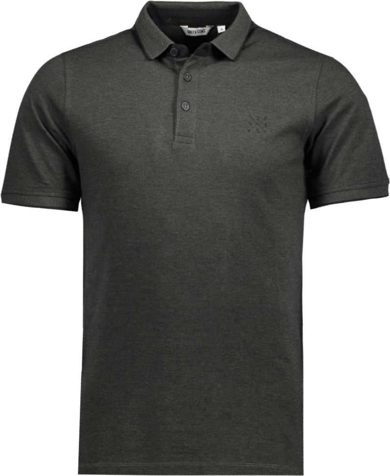 Поло мужское Only & Sons, цвет: черный. 22006560. Размер L (50)22006560
